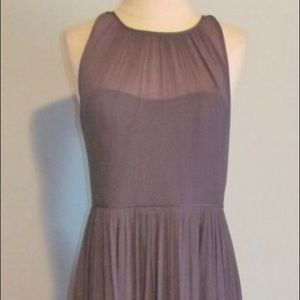 J.Crew - Size 8,long dress, silk chiffon, Gray
